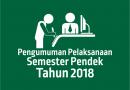 PELAKSANAAN SEMESTER PENDEK (SP) FAI UNWAHA 2018