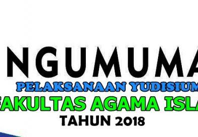 INFO PELAKSANAAN YUDISIUM FAI UNWAHA TAHUN 2018